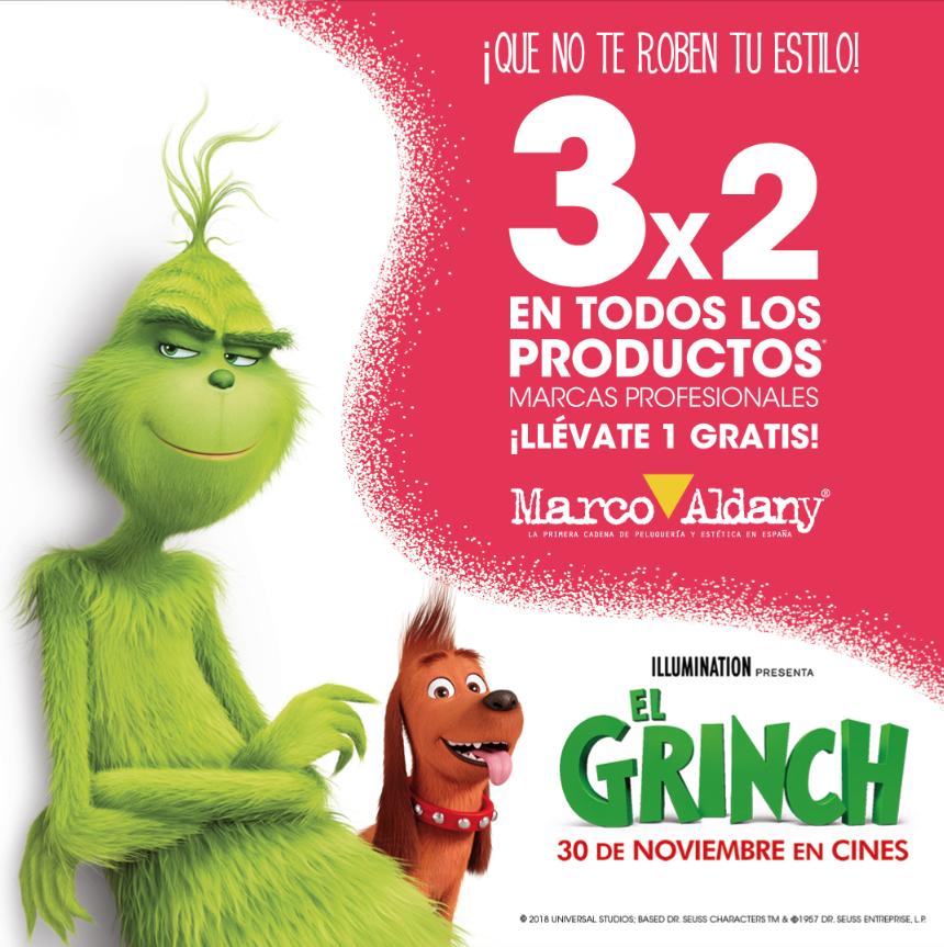 EL GRINCH –  3×2 en todos los productos*